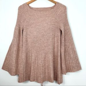 LC Lauren Conrad; Lace-Up Swing Pullover
